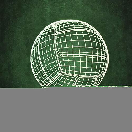 JYHW Creative 3D Led Luminaire Coloré Luminaire Usb Lampe De Table Nouveauté Balle Forme Ballon De Volleyball Bébé Dormir Night Light Cadeaux