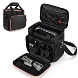 Trunab Travel Carrying Bag Compatible with Jackery Portable Power Station Explorer 160/240/300, Storage Case with Waterproof PU Bottom and Front Pockets for Charging Cable and Accessories