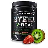 Steel Supplements Vegan BCAAs Amino Acids Powder | Kiwi Stawberry V-BCAA Soy Free, Gluten Free Vegan BCAAs Powder Muscle Gainer, Fat Burner (30 Servings)