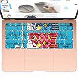 igsticker MacBook Air 13inch 2018 専用 キーボード用スキンシール キートップ ステッカー A1932 Apple マックブック エア ノートパソコン アクセサリー 保護 015797 鯉のぼり 空 端午の節句