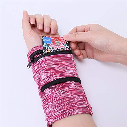 bbfly Handgelenkbeutel, Sport Handgelenktasche mit Reißverschluss, für Joggen, Spazieren, Laufen, Gassi gehen, Fahrrad und Yoga etc