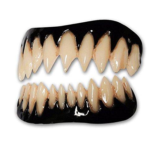 Black Pennywise FX Fangs 2.0 Evil Teeth Dental Veneer, Black, Size Medium