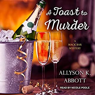 A Toast to Murder audiobook cover art