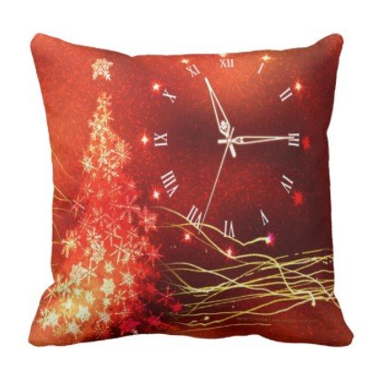 Gaming Mouse Pad Gold Glow Christmas Clock and Chrismas Tree for Desktop and Laptop 1 Pack Round Mouse mat