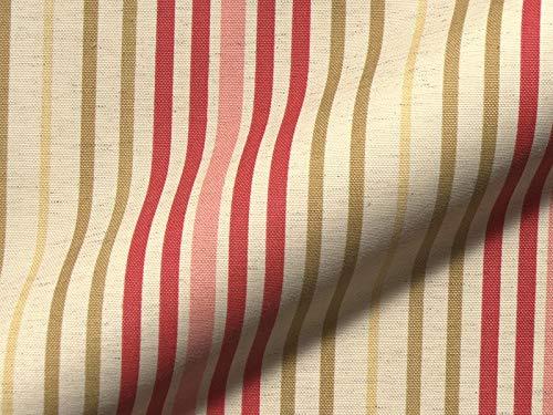 Raumausstatter.de Möbelstoff Porta 721 Streifenmuster Farbe Multicolor als robuster Bezugsstoff, Polsterstoff bunt gestreift zum Nähen und Beziehen, Polyester, Baumwolle, Leinen