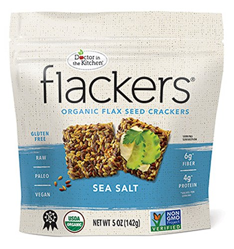 Doctor In The Kitchen Cracker Sea Salt Flacker 5oz (Pack of 12)