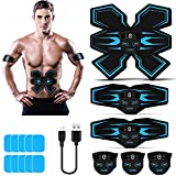 Tenswall Abs Trainer, Muscle Stimulator EMS with LED Display, USB Rechargeable Ab Toner Exercise Equipment...