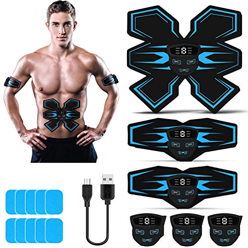 Tenswall Abs Trainer, Muscle Stimulator EMS with LED Display, USB...