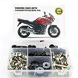 WONYAN Motocicleta Piezas For Yamaha TDM 900 TDM900 2002-2014 motocicleta de acero completa carenado completo kit de carenado Tornillos clips tornillos del cuerpo nueces OEM Estilo (Color : Silver)