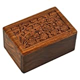 Sigma Marine International Beautifully Handmade & Handcrafted Tree of Life Engraving Wooden Urns for Human Ashes Adult by - Wooden Cremation Urns for Ashes Engraving, Wooden Box (5 X 3 X 2)