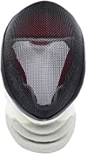 ThreeWOT Fencing Mask, Fencing Foil Mask,350N CE Certification Fencing Foil Protective Gear(Contain Storage Bag) (Large, Detachable)