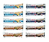 Convenient Nutrition Keto WheyFer Bar - Protein Snack, Low Carb, Low Sugar, Ketogenic - Variety Pack of 10