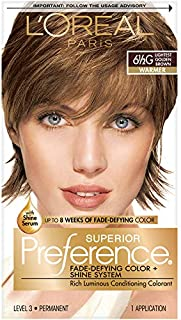 L'Oreal Paris Superior Preference Fade-Defying Color + Shine System, 6.5G Lightest Golden Brown(Packaging May Vary) 1 Count