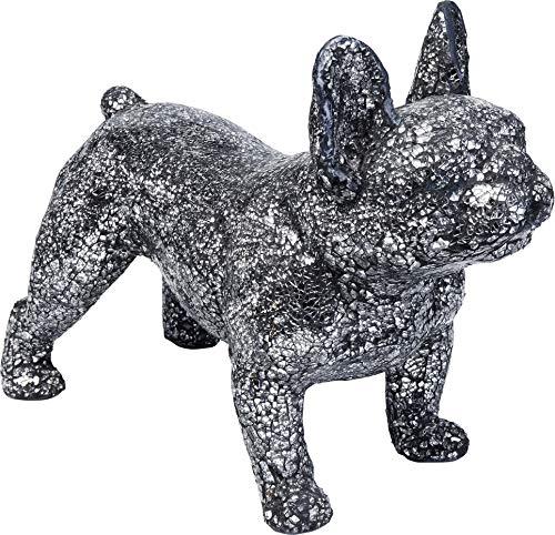 Kare Design Deko Objekt Crystal Dog, Deko Figur in Hunde Form, Accessoire aus Fiberglas, glitzerner Frenchie Hund,  (H/B/T) 45x22x38cm