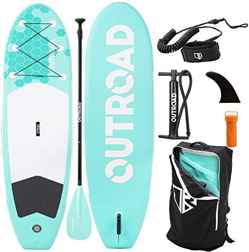 Outroad Water Inflatable Stand Up Paddle Board 10 5 ft SUP 6 Thick w Bottom Fin Non Slip Deck product image