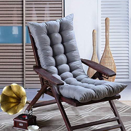 Patio Chaiselongue-Kissen mit hoher Rückenlehne, Dicker Sessel Patio-Kissen Innen-Chaiselongue im Freien Abnehmbarer Stuhl Patio-Kissen-grau 120x48cm (47x19in)