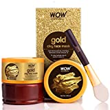 WOW Skin Science Gold Clay Face Mask for Hydrating Skin & Restoring Radiance - No Parabens,...