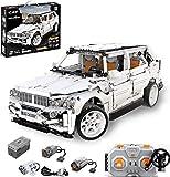 PEXL Juego de construcción para vehículos todoterreno para BMW X5 Auto, Technic 4x4 Offroader con mando a distancia 2.4G y motores, 2200 bloques de construcción compatibles con Lego Technic