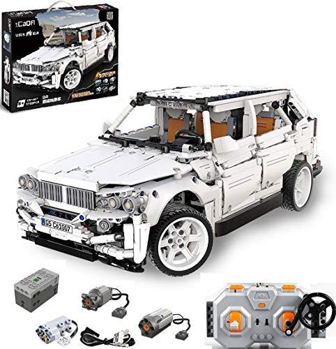 PEXL Technik Geländewagen Bausteine Bausatz für BMW X5 Auto, Technic 4x4 Offroader mit 2.4G Fernbedienung und Motoren, 2200 Klemmbausteine Kompatibel mit Lego Technic
