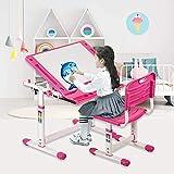 Children Desk and Chair Set, Kids Desk Adjustable Height Study Table,...