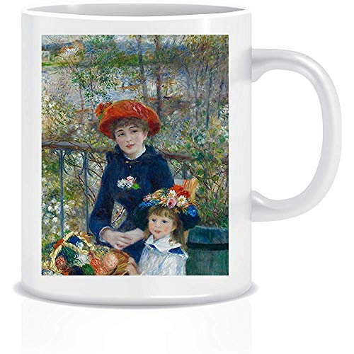 Two Sisters On The Terrace # 2 (Renoir) Coffee Tea Taza de cerámica blanca Taza 330 ml
