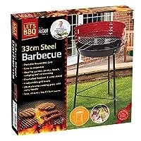 Taimani Portable Round Barbecue Grill- 33 CM Steel