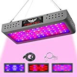 FSGTEK 600 Watt Full Spectrum LED Grow Light, Double Switch with Daisy Chain Function, LED Grow Lamp for Indoor Plants Veg and Flowering, for Hydroponics Greenhouse and Grow Tent, with Hanging Hook
