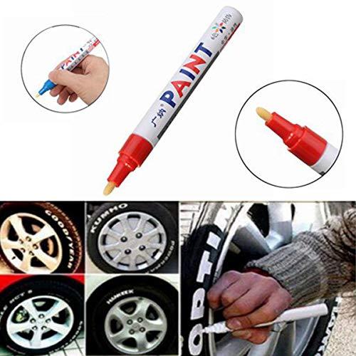 NICOLIE 2 Uds.Neumático De Color Rojo, Rotulador De Pintura Permanente, Neumático De Metal, Marcador De Tinta para Exteriores, De Moda