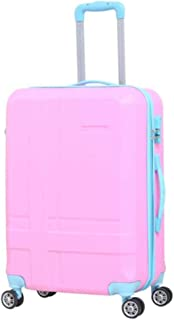 XIAO Suitcase for expandable 8-wheel fine-tuning consignment suitcase, (34 * 22 * 56) cm Happy day (Color : Light blue, Size : 14 * 9 * 23 inch)