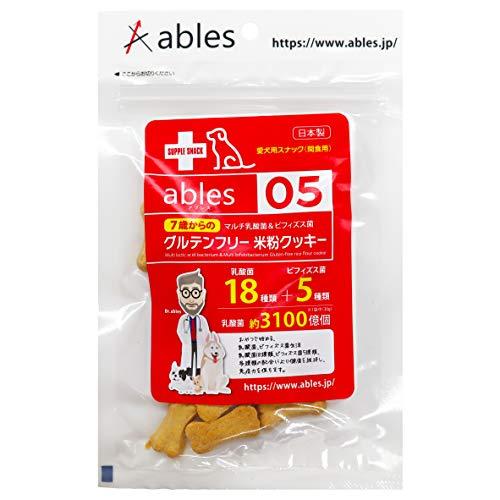 ables(アブレス) 犬用おやつ 7歳からのマルチ乳酸菌&ビィフィズス菌 グルテンフリー米粉クッキー 30g