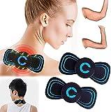 Electromagnetic Wave LegMassager,Mini Cervical Massager,Cervical Massage Stimulator Pain Relief,Slimming EMS Arm Shaper,Reactivate EMS Electric Massager Pad (2 Pcs)