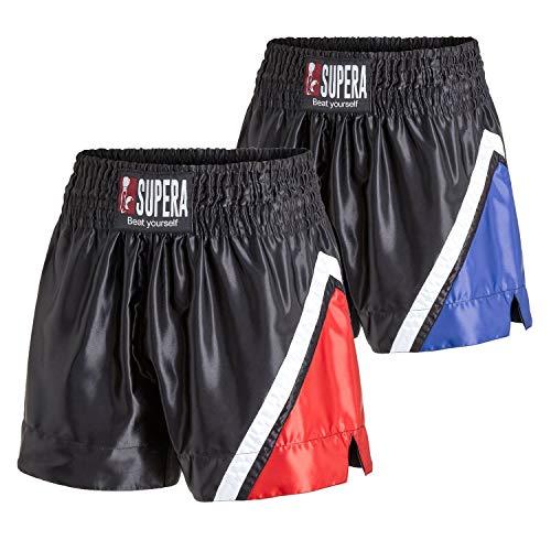SUPERA Muay Thai Short preformance, Größe:XL, Farbe:rot