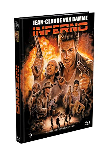 INFERNO (Jean-Claude Van Damme) - 2-Disc Mediabook Cover F [Blu-ray + DVD] Limited 555 Edition - Uncut