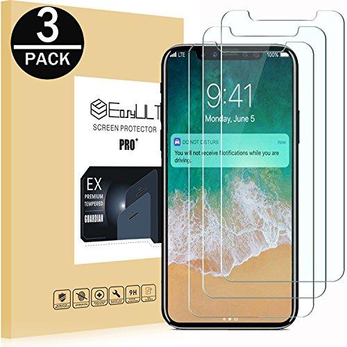 EasyULT X/Xs/11 Pro Panzerglas[3 Stück], X/Xs/11 Pro Schutzfolie Displayschutzfolie Glas Glasfolie Displayschutz iPhone X/iPhone XS/iPhone 10/iPhone 11 Pro (3D Touch Kompatibel)
