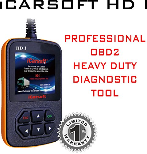 Lowest Price! iCarsoft Heavy Duty Diagnostic Tool Scanner HD I for GMC Chevrolet Cummins Peterbilt C...