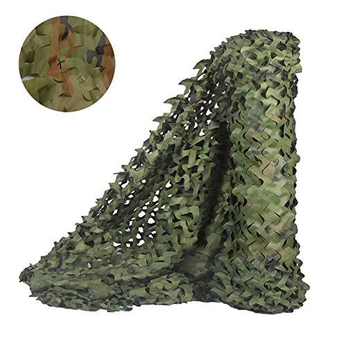 LANGYINH Red de camuflaje, estor de camuflaje ideal para sombrilla militar, camping, caza, decoración de fiesta, fácil de usar, 9.8 x 9.8 Feet