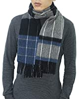 "Reality & Fantasy Wool Plaid Tartan Winter Scarf 67"" x 11.8""100% Lambswool Scarves for Men and Women"