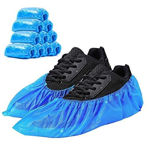 Schuhüberzieher, Blauer Dicker CPE-Überschuhe Einweg, Wasserdicht, Rutschfest und Schmutzabweisend, Halten den Raum/das Auto/den Teppich sauber