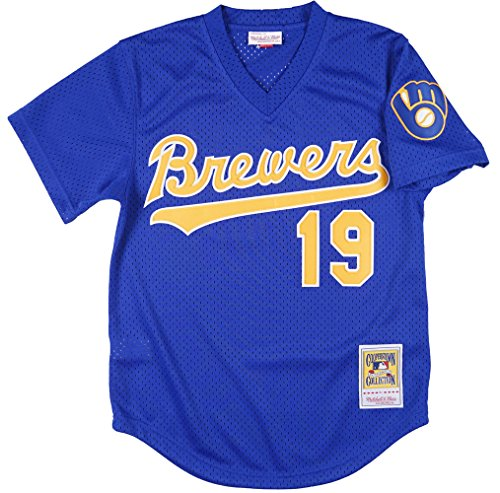 Mitchell and Ness Robin Yount Mesh BP Jersey in Royal