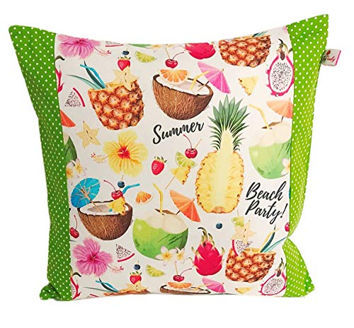 'Cushion Cover 35x 35cm 'Flamingo With Polka Dots And Pink Summer Pattern Cushion Cover Pillow 100% Cotton Flowers Plants Gift Child Erzier Cuddly Pillow
