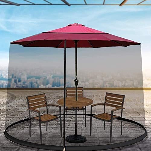 Modische Dekoration Regenschirm Moskito Patio Tischschirm, Outdoor Regenschirm Tischschirm Sonnenschirm Moskitonetz, Geeignet für Pavillons, Polyester, Einzeltür, Reißverschluss Eingang Sonn