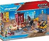 Playmobil - Construcción, Mini Excavadora, Juguete, Color Multicolor, 70443