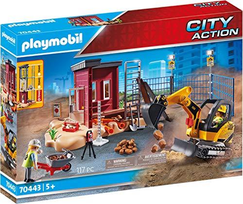 PLAYMOBIL 70443 Minibagger mit Bauteil, Ab 5 Jahren