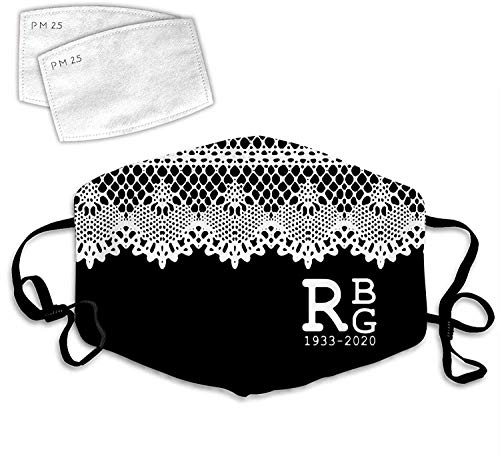 Notorious RBG Lace Collar Ruth Bader Ginsburg Feminism Dust Face Mask Washable Bandanas Mouth Warmer -Notorious Rbg Lace Collar Feminism 1-onesize Made in USA