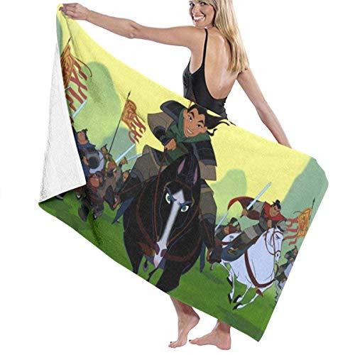 Mulan Toalla de playa de gran tamaño, 132 x 81 cm, uso como yoga, viajes, camping, gimnasio, piscina, sillas de playa, talla única