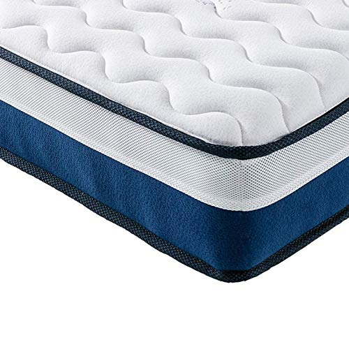 Vesgantti Pillow Top Series - 10.6 Inch Innerspring Hybrid Full Mattress/Bed in a Box, Medium Firm Plush Feel - Multi-Layer Memory Foam and Pocket Spring - CertiPUR-US Certified/10 Year Warranty