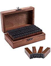 Wooden Rubber Number Letter, 70 pcs Alphabet Stamps Vintage Wooden Rubber Letter Number and Ink Pads (Alphabet Stamps)