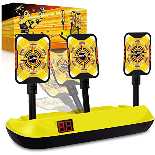 Jionchery Upgrade Electronic Shooting Target Scoring Auto Reset 3 Digital Targets for Nerf Guns Blaster Toys, with Wonderful Light Sound Effect, Idea Toy for Kids, Boys & Girls Target Shooting Game