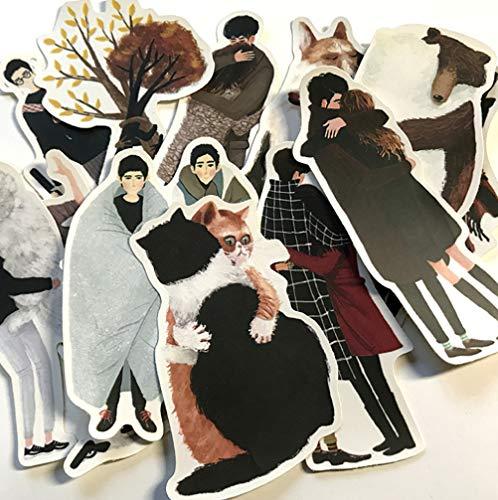 Cartoon Stickers Diy Scrapbook Romantisch Paar Knuffel Leven Album Dagboek maken Gelukkig Plan Handicraft Decoratie Stickers