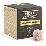 Note d'Espresso Italiano - Cápsulas de tisana de jengibre compatibles con cafeteras Nespresso, 40 unidades de 2g